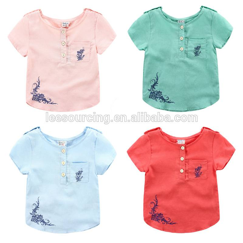 kid fashion New cilên ser shirts tops pembû baby flower girę zarokan
