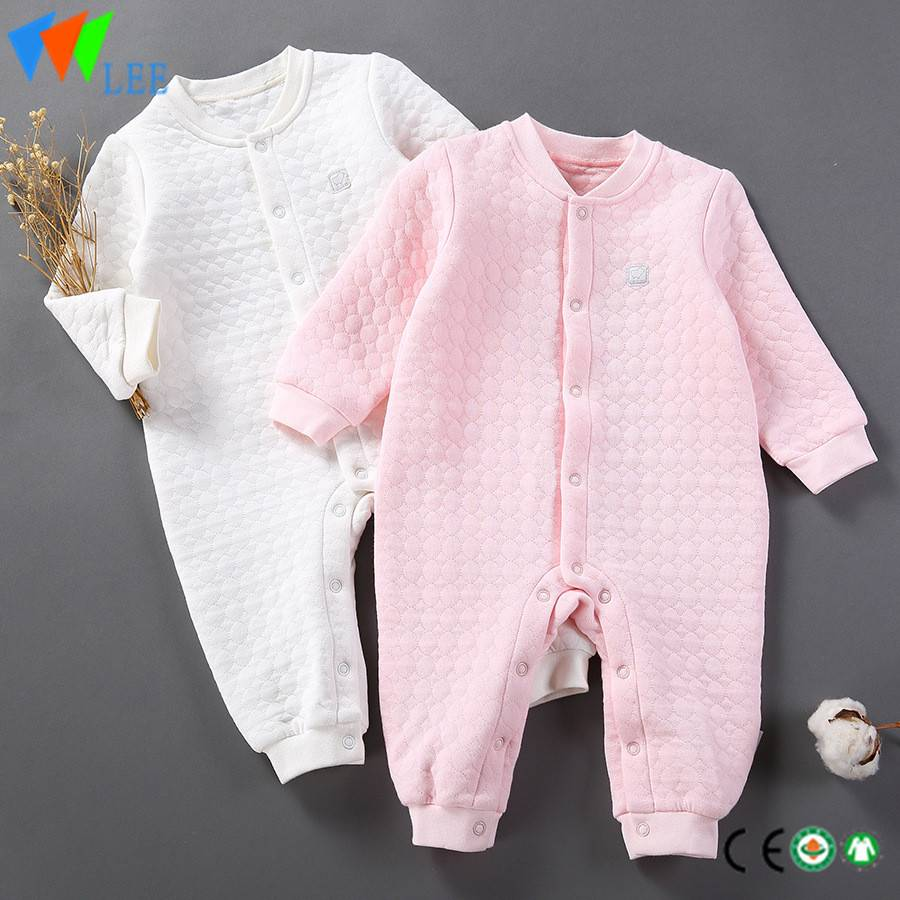 100% cotton pure elastic comfortable Lovely baby long sleeve round collar rompers
