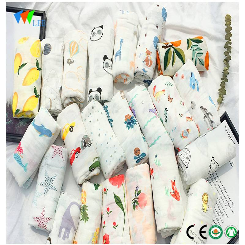 New style and  fashionable  suitable for  newborn baby bamboo fiber printing sleeping bag   blanket wholesale