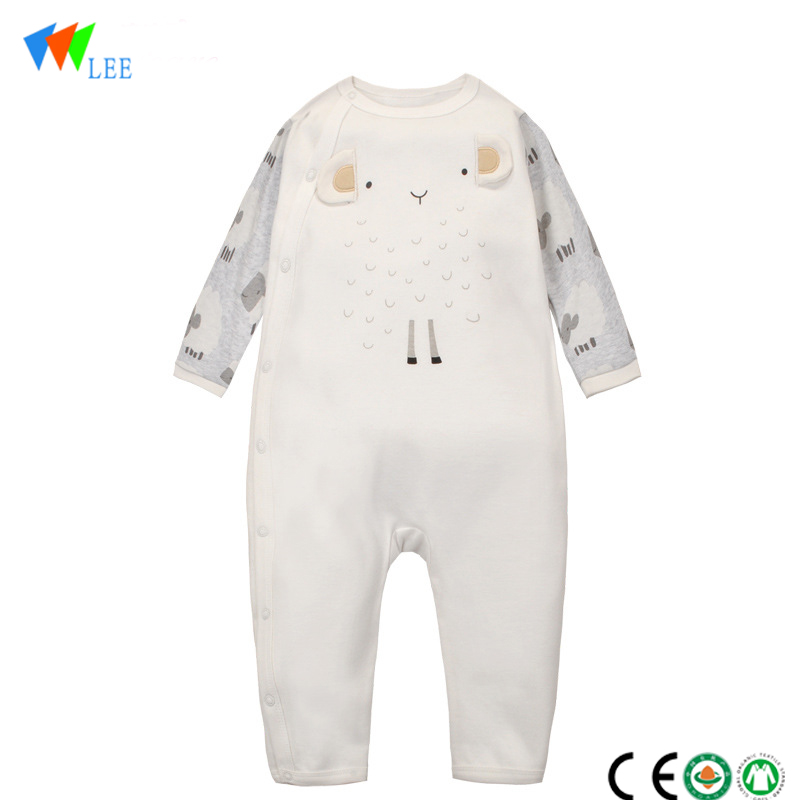 wholesale new design baby romper long sleeve combed cotton onesie newborn baby bodysuit romper