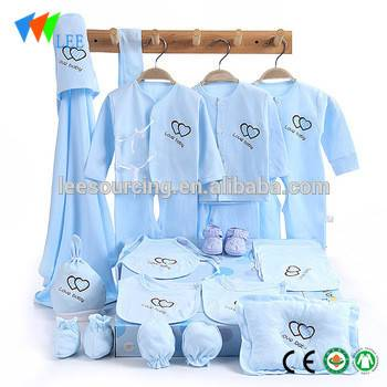 High quality baby clothes wholesale cute printed cotton newborn baby clothes gift set