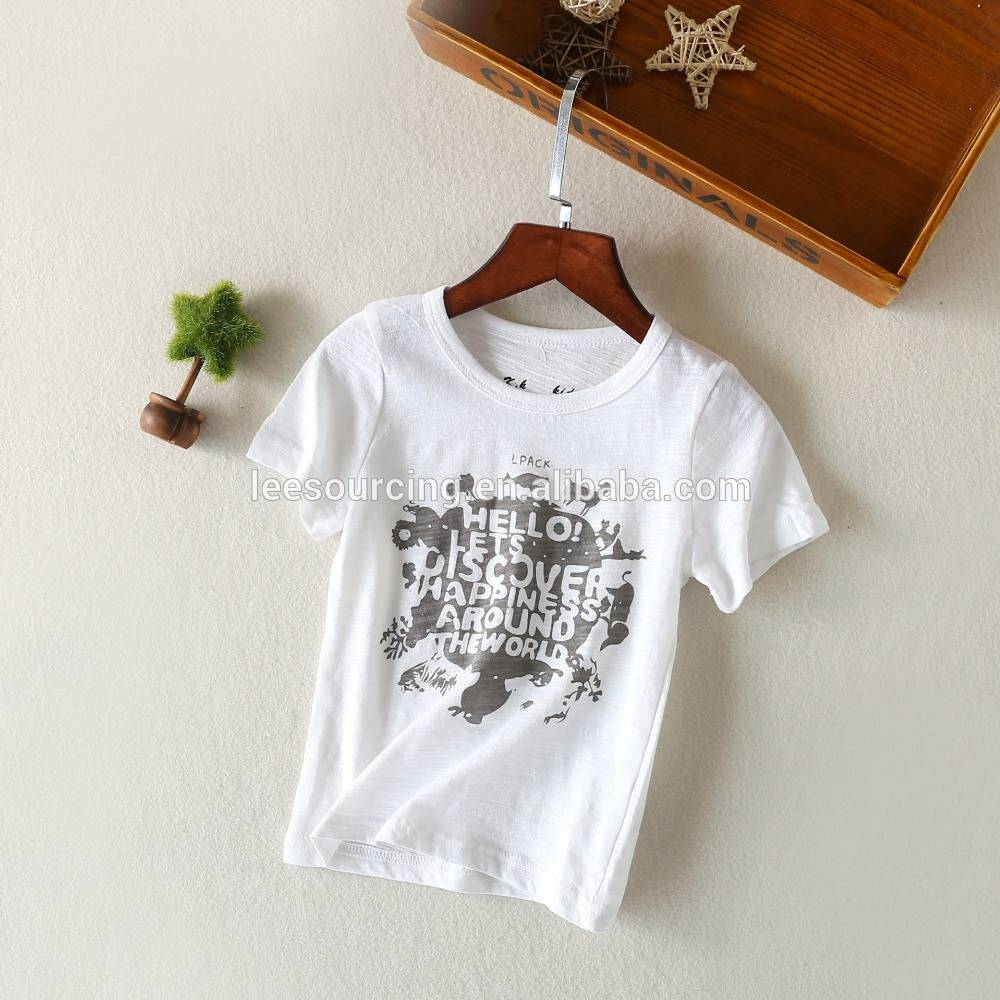 Wholesale summer kids tee wear short sleeve boy t shirt child boy tops