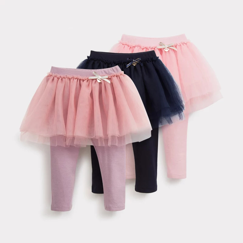 Best Selling kids apparel baby plain girls leggings 100% cotton with girls skirts