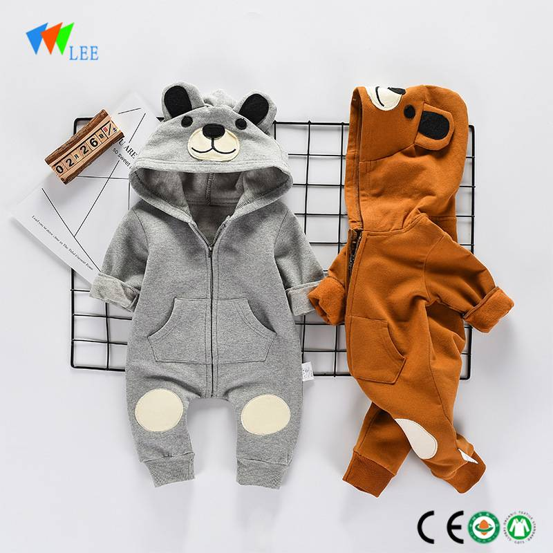 wholesale new fashion baby clothes cartoon cotton onesie newborn customize baby romper with hats