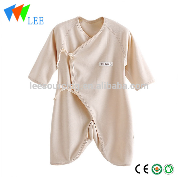 Eco-friendly infant onesie long sleeve organic bodysuit blank baby bamboo romper
