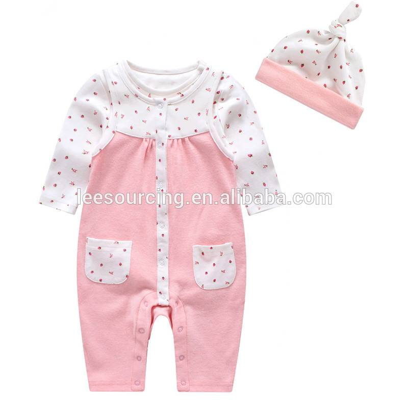 baby girl clothes cotton romper set toddler organic pink dot play suit