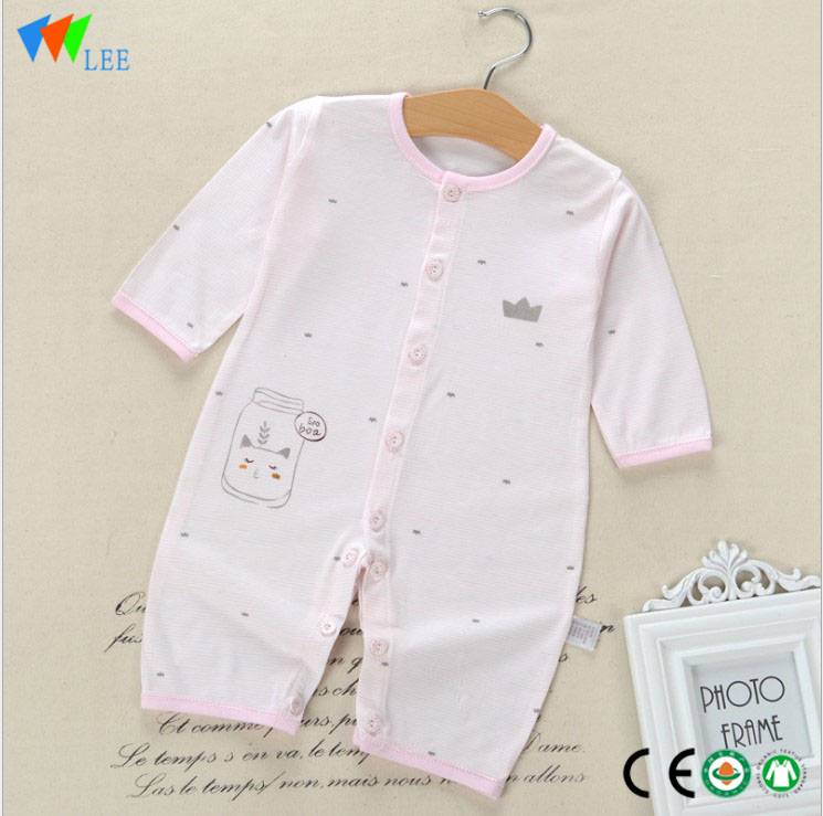 Toddler Baby clothing Bamboo Cotton Plain White Newborn Baby Clothes Romper