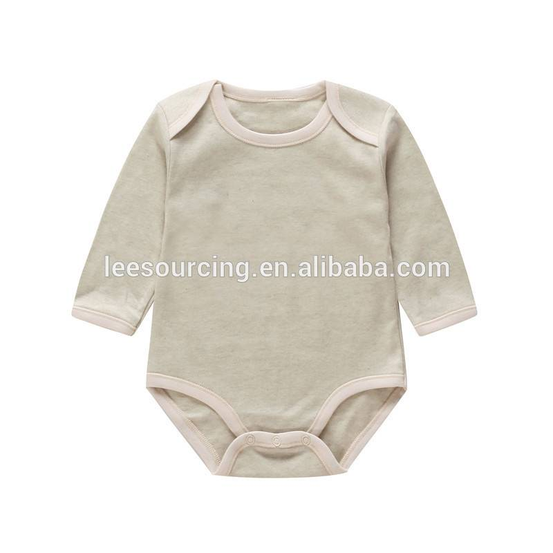 Hot sale organic cotton plain baby clothes romper