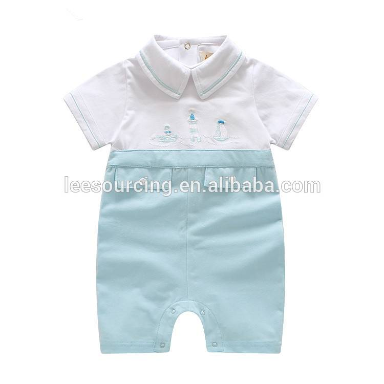 PriceList for Sexy Lingerie Young Girls - Summer baby boy polo collar cotton bodysuit white baby onesie manufacture – LeeSourcing