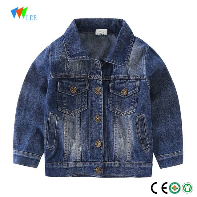 wholesale high quality denim jacket for boys kids