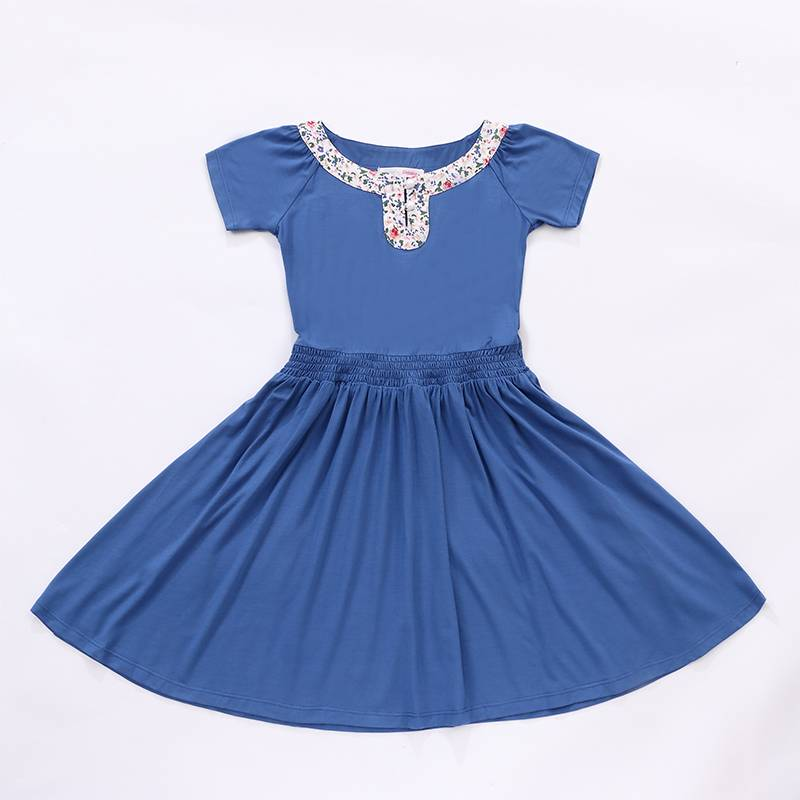 Baby girl maxi dress short sleeves pleated dress