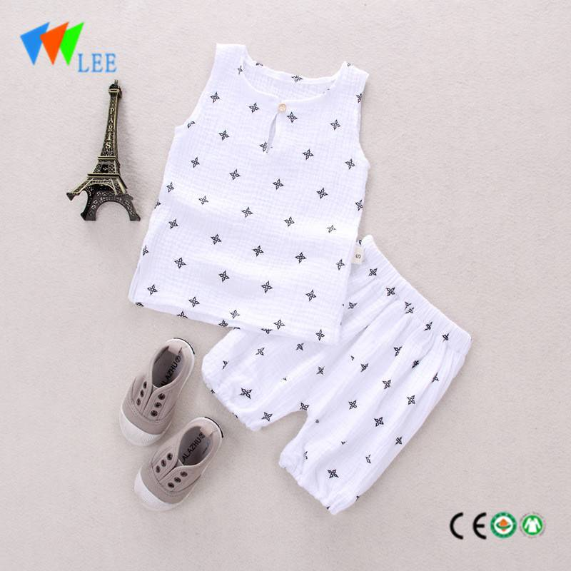 boys summer sets prints t shirts shorts pants children kids clothes clothing sets