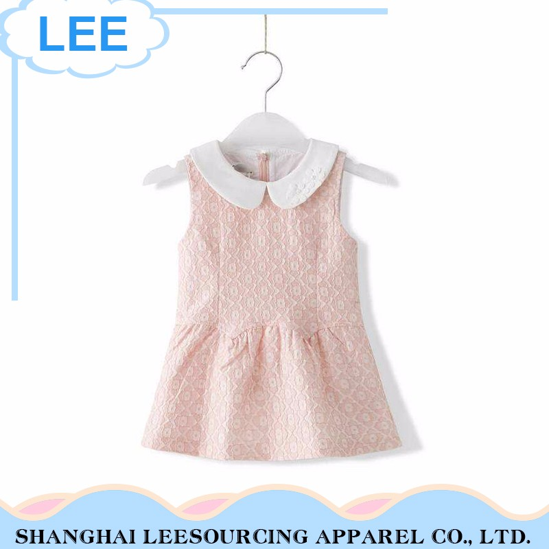 Hot Sale Breathable Pink Baby Girl Sleeveless Long Dress