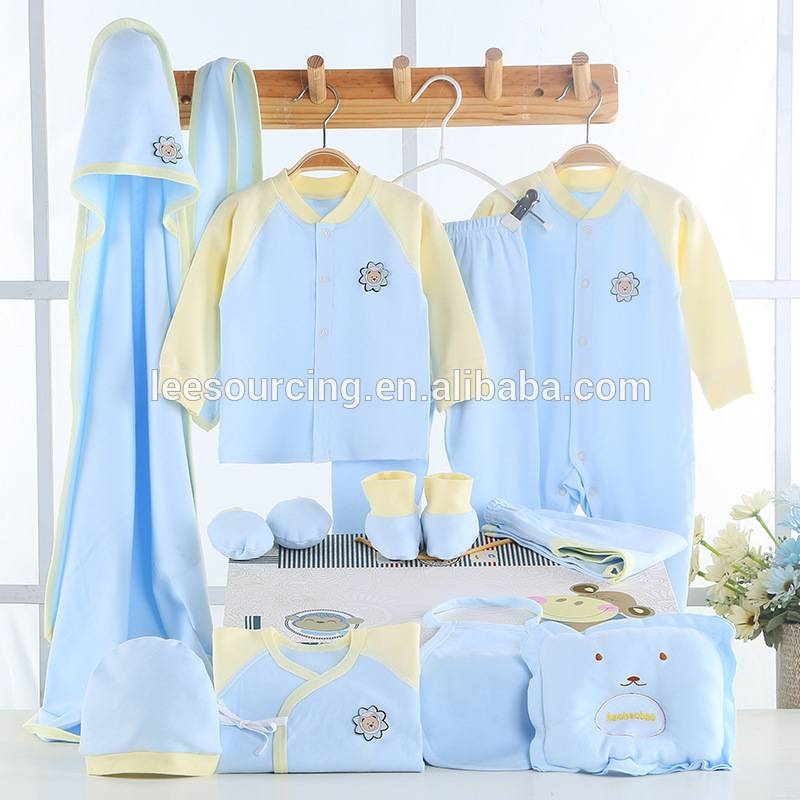 Baby boy 100% cotton soft gift sets newborn baby clothes manufacture
