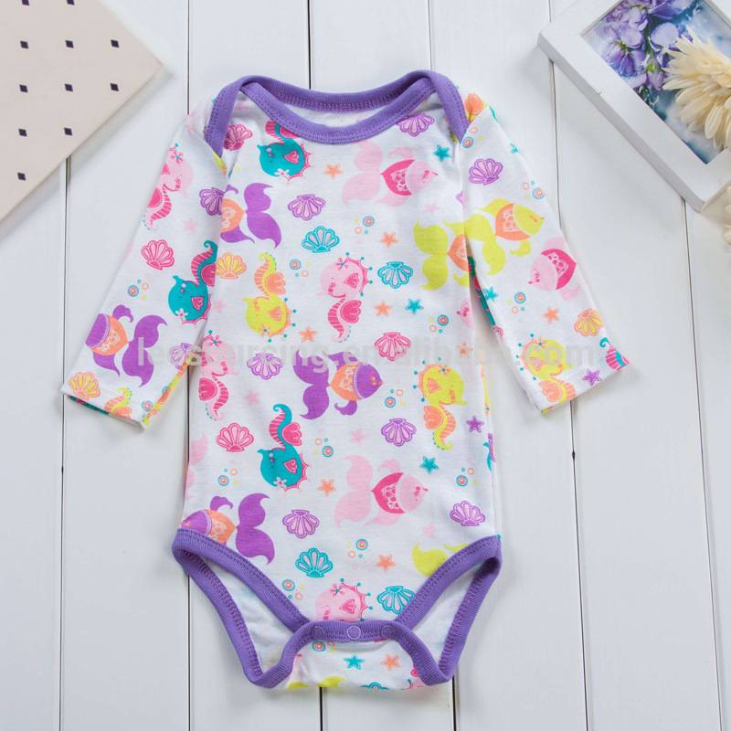 Wholesale summer striped girls baby rompers cotton clothing