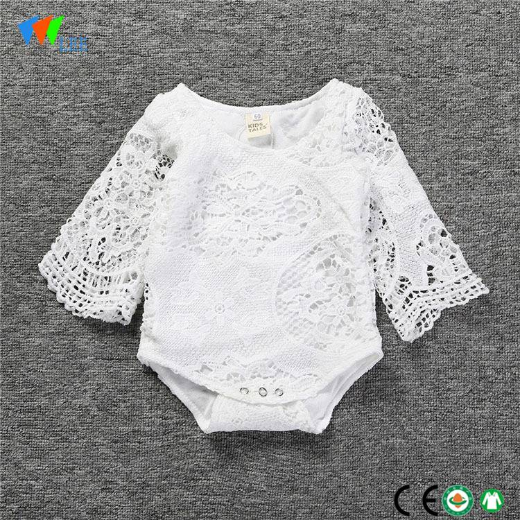 wholesale baby clothes New fashions summer long-sleeved baby girl baby onesie romper
