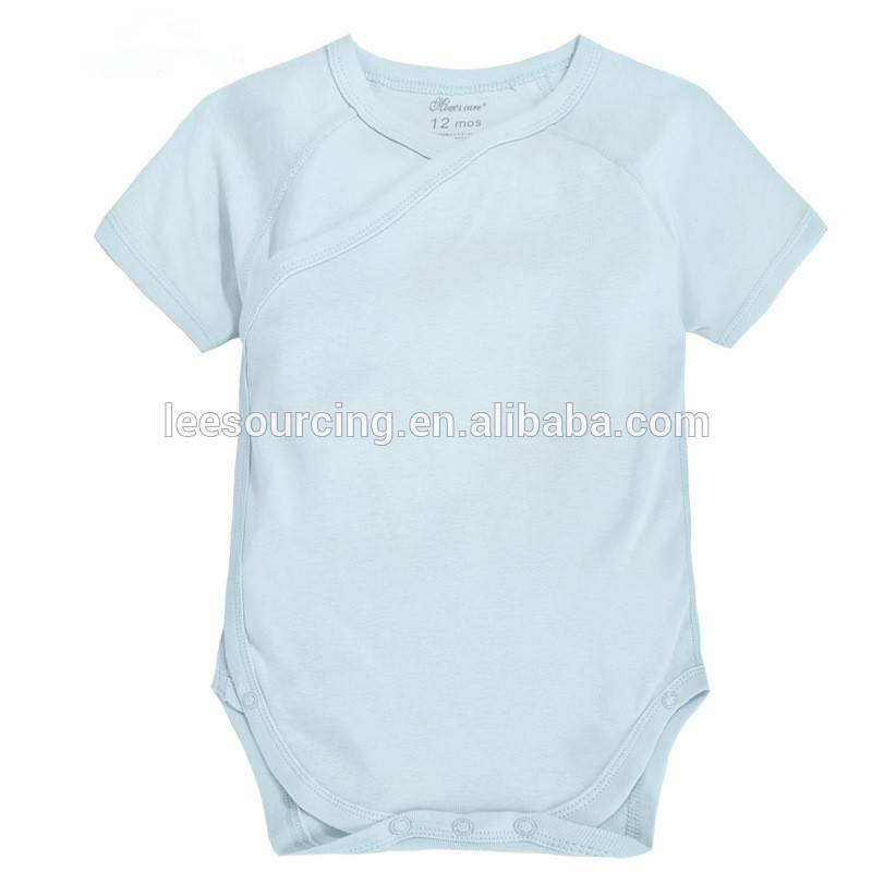 Hot sale summer short sleeve blank bamboo baby bodysuit