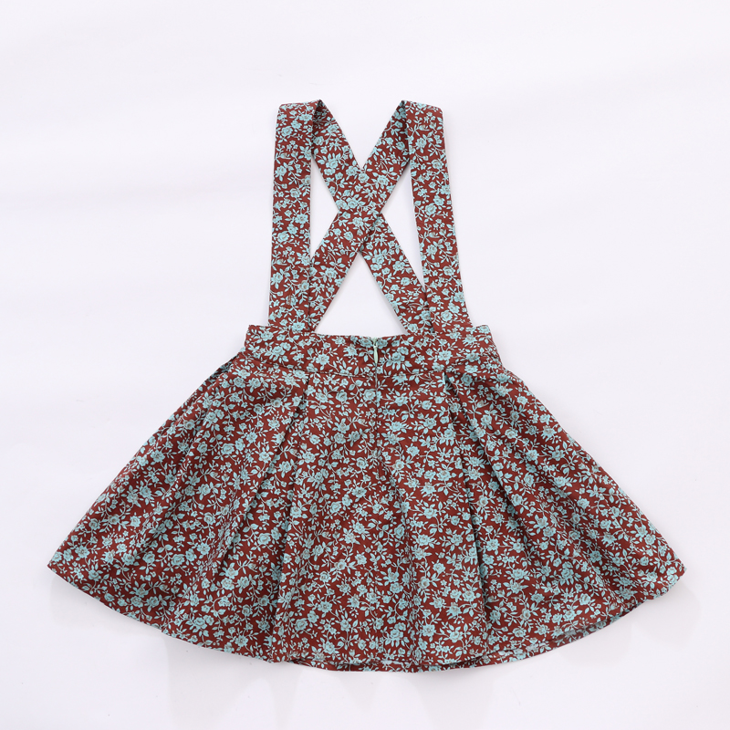 Wholesale girl floral dress manufacturer customized baby kids flower puffy skirts