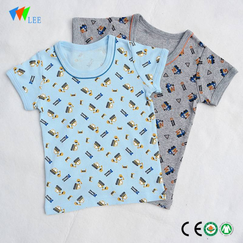 china manufacture New design children's summer short-sleeved beautiful kids cotton t-shirt wholesale