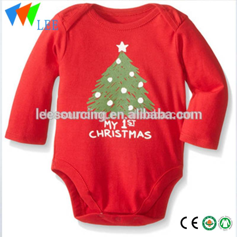 Christmas Clothing Cotton Baby Romper Long Sleeve Christmas baby Onesie