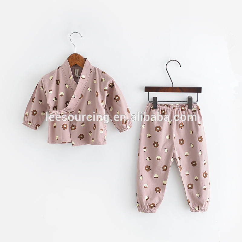 Wholesale unisex baby clothing set long sleeve kids tops and pants children cotton home wear clothes