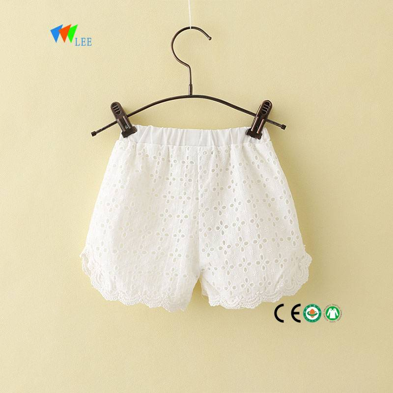 summer cotton 2018 new design baby girls shorts pants