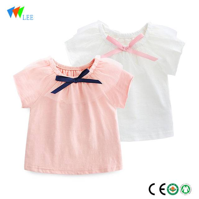 0-2 T high quality wholesale blank baby kids fashion cotton t-shirt