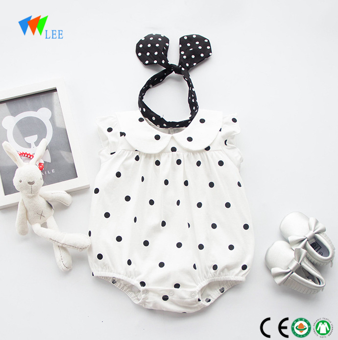 wholesale baby clothes New style summer short-sleeved girl cotton baby romper