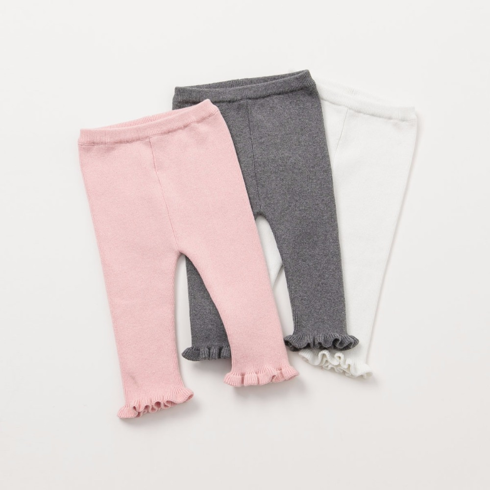 Wholesale Children Cotton Leggings Baby Girl ruffle pants