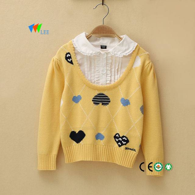 0-2T 2017 wholesale long sleeve kids clothes sweater shirt