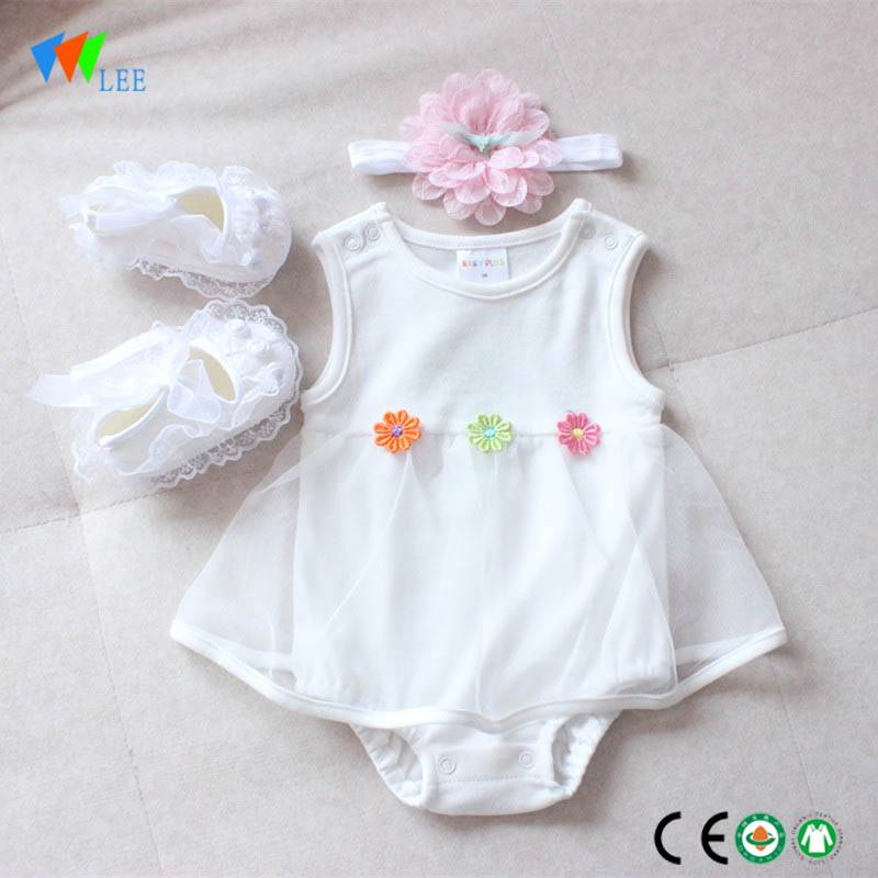 summer branded newborn new design babys clothes organic cotton wholesale infant dresses romper
