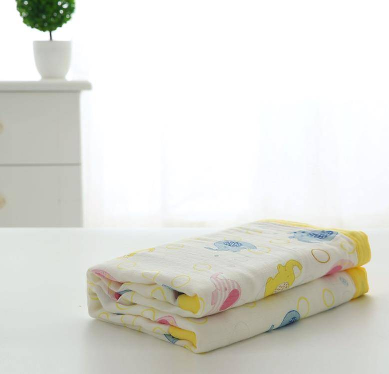 High Quality White Muslin Baby Swaddle Blanket 100% Organic Cotton Perfect for Swaddling and Nursering