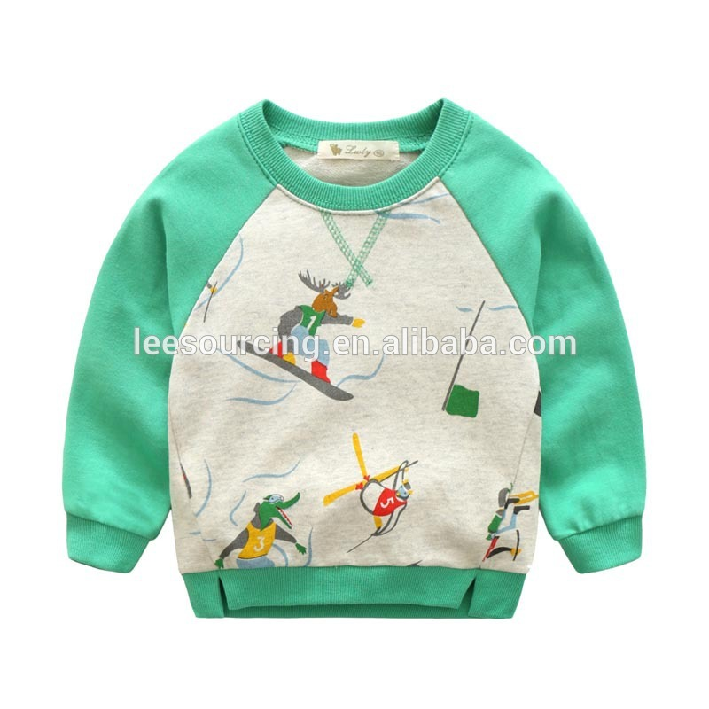 Children French terry sweatshirt baby boy printing sweatshirt tops clothes for spring