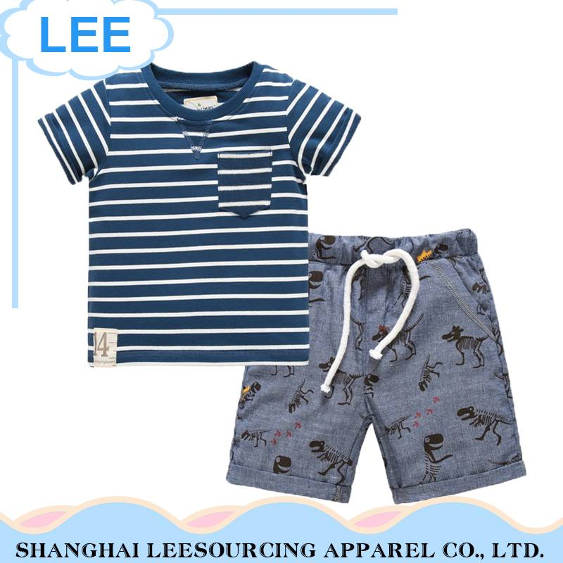 Wholesale Kids Clothing Children Summer Baby Boy Clothing Set