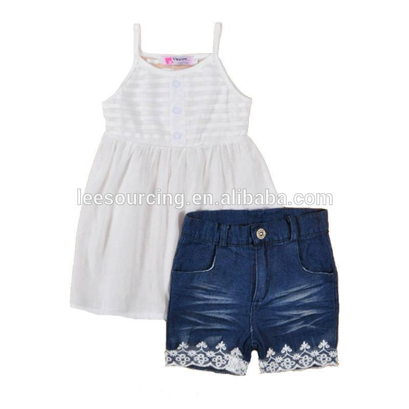 Wholesale 2T-6T 2 pieces baby girl clothing set