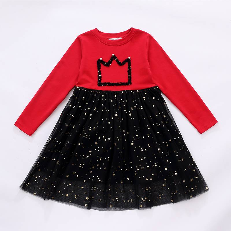 Sweet style little queen flower girl dress long sleeve wholesale beautiful baby dresses