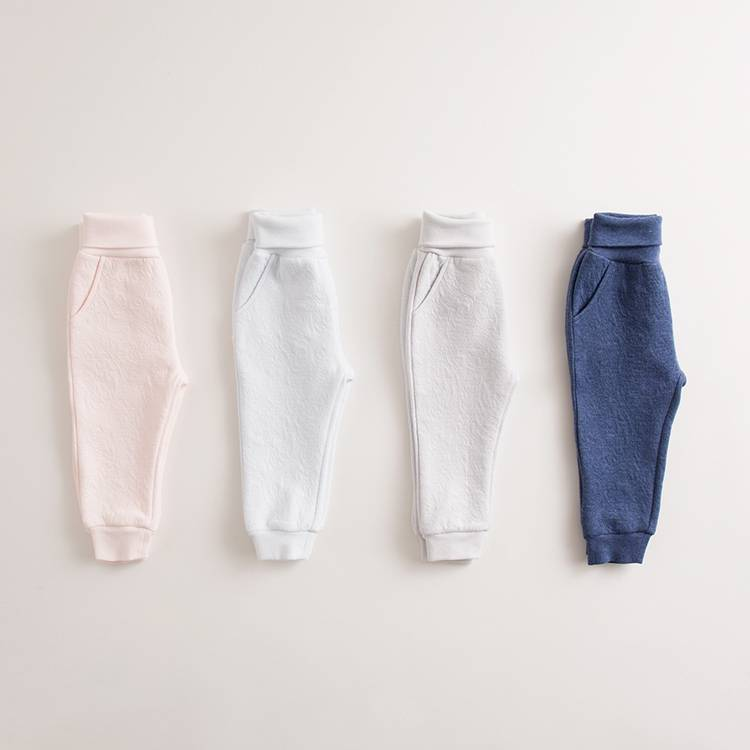 Best selling plain trousers 100% cotton children long pants icing baby leggings