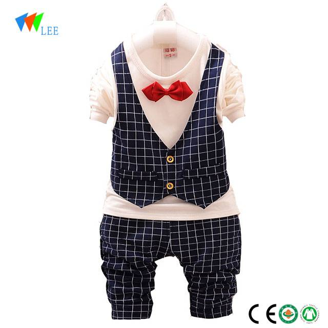1-3 T baby two piece baby boy clothing outfit set