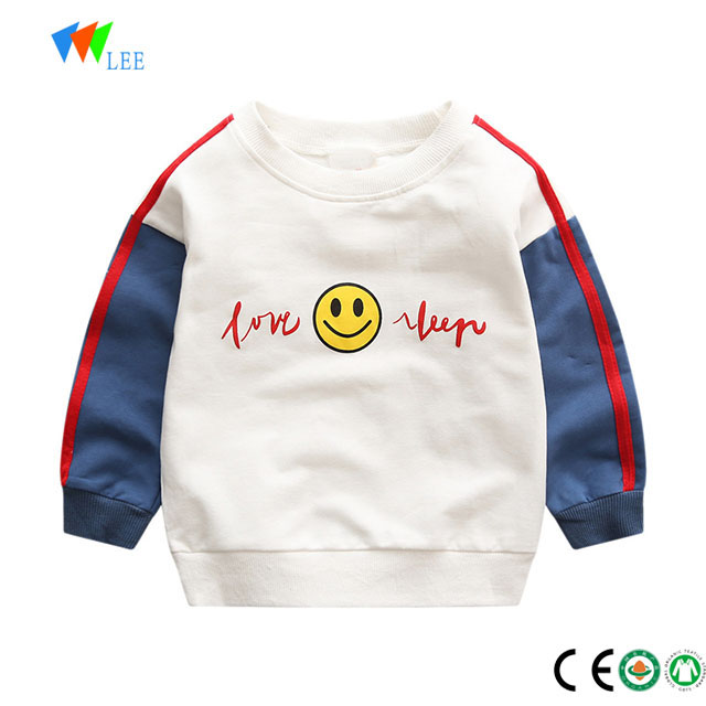 2018 wholesale fashion pullover kids sweatshirt clothes