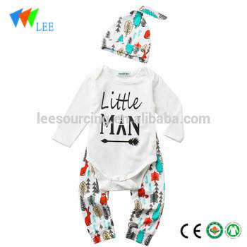 China OEM Summer Baby Girls Outfits - Newborn 100% cotton pant hat 3pcs clothes suit baby romper set – LeeSourcing