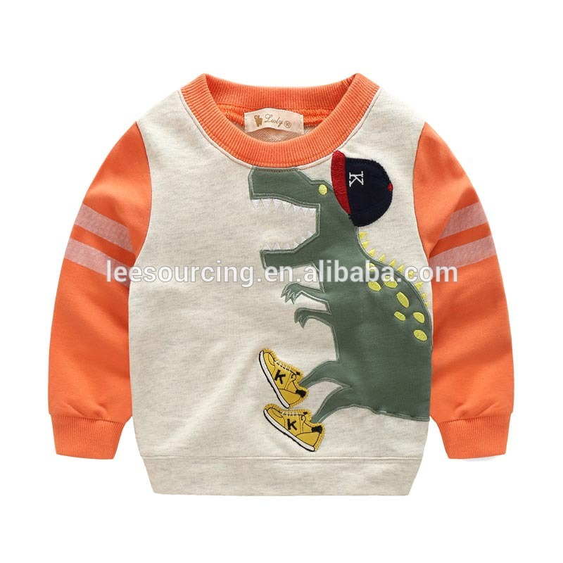 Wholesale children sweatshirt baby boy dinosaur printing sweatshirt clothes tops Featured Image