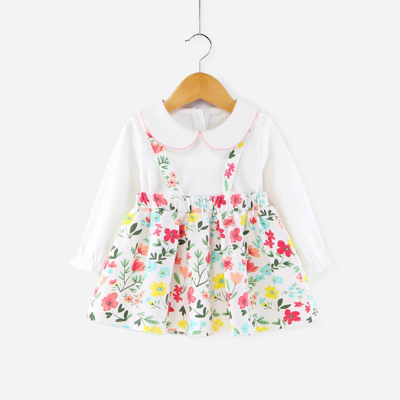 2017 Fashion Colorful Children Girl One Piece Baby Cotton Dress