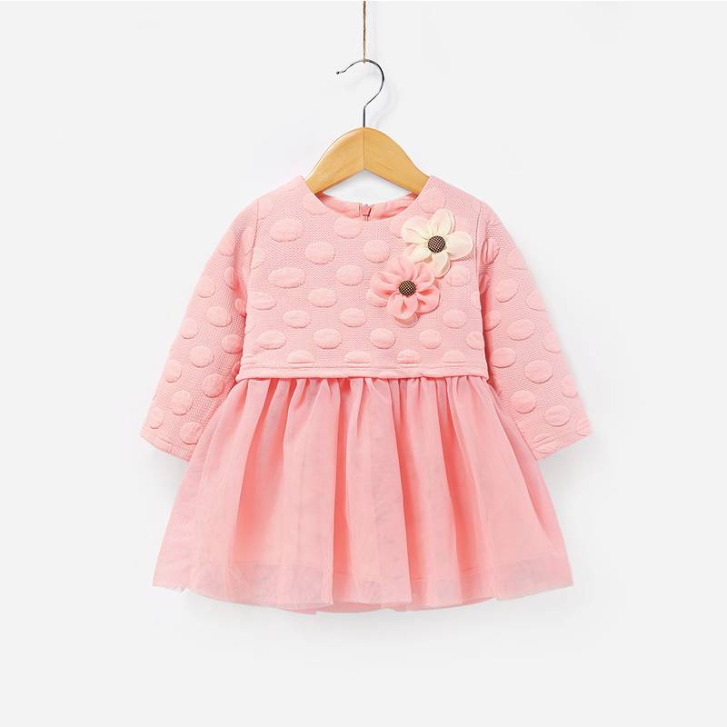 Factory Direct Price Children Swing Dress A-line Kids Pari Dress for Baby Girl