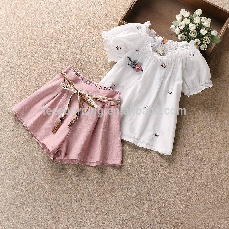 Children's leisure shirts, short sleeves, two-piece sets
