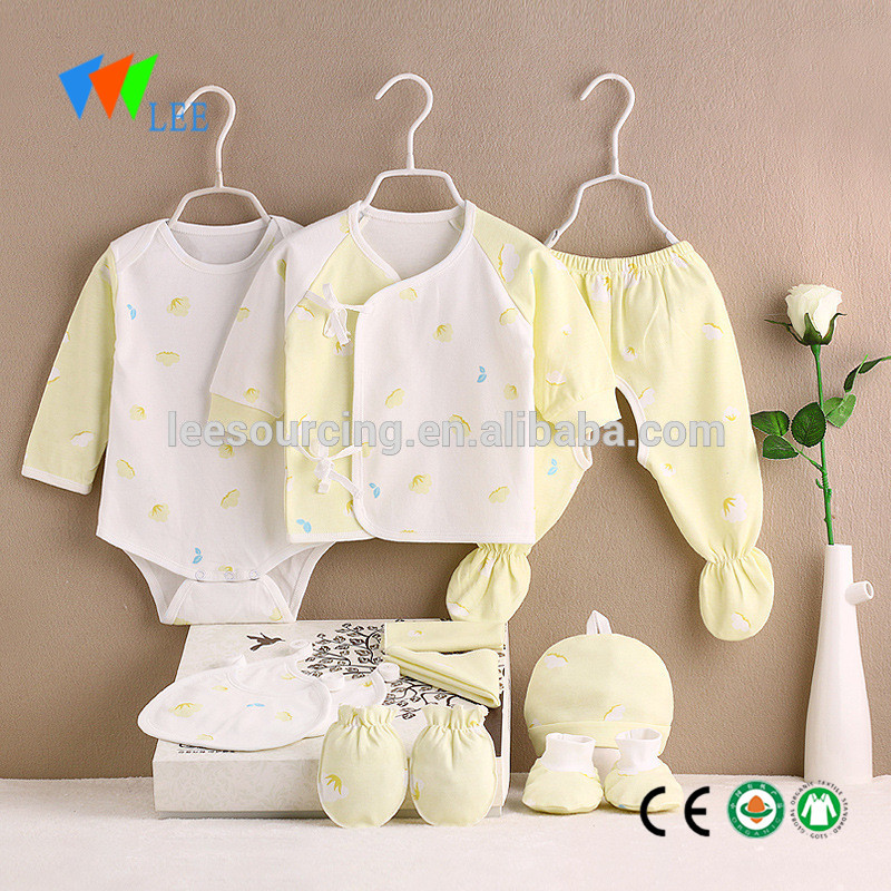 Summer baby 100% cotton soft clothing gift set newborn baby clothes