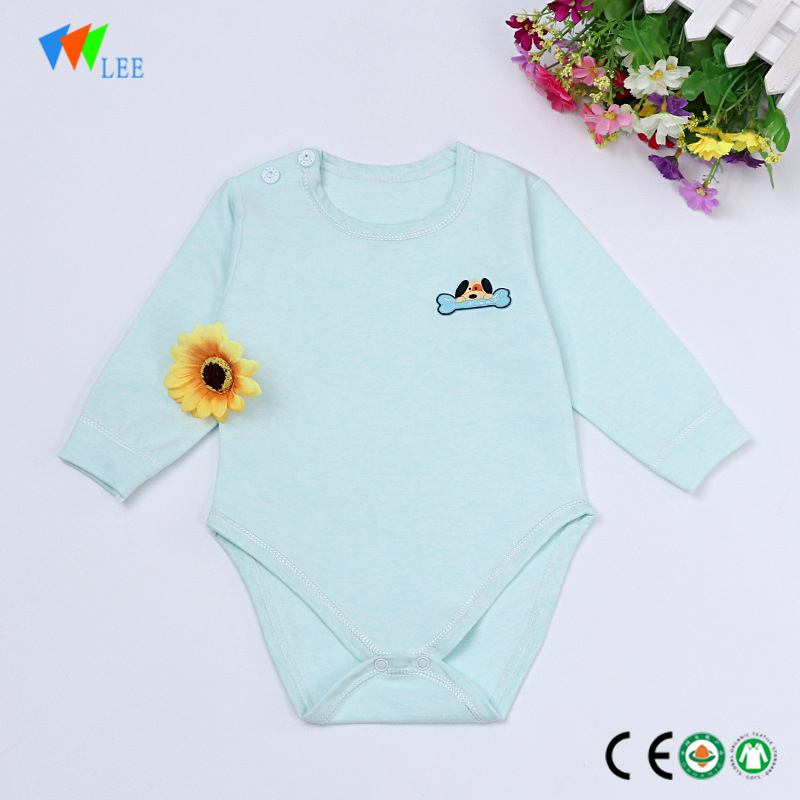 china Factory supply new design baby clothes cotton 3/4 sleeve children plain onesie infant romper wholesale