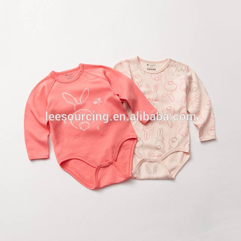 High quality cotton cute printing baby long sleeve romper