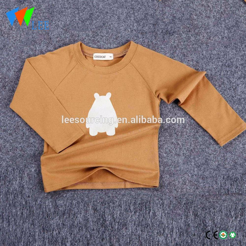 Wholesale boy custom sleeve Raglan tee baby shirt tee Raglan tops zarokên sleeve dirêj t shirt