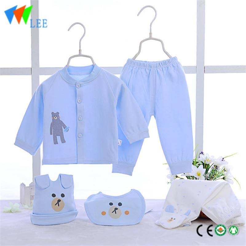 100% cotton newborn baby clothing gift sets embroidered