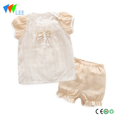 Factory direct short-sleeved suit baby clothes two sets of 1-3 years baby clothing set